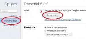 Personal stuff > Setup Sync
